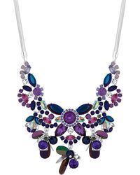 Red Herring - Purple Crystal Cluster Statement Necklace - Lyst