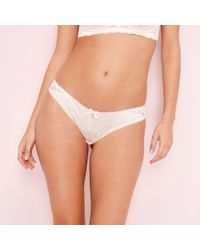 e6bae24710a9 Ted Baker Jacquard Lace Brazilian Knickers in Pink - Lyst