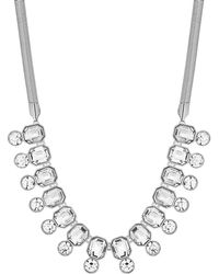 J By Jasper Conran - Silver Crystal Statement Necklace - Lyst