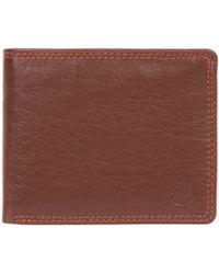 Conkca London - Conker Brown 'moon' Bi-fold Leather Wallet - Lyst