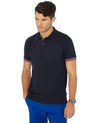Racing Green - Big And Tall Navy Tipped Placket Polo Shirt - Lyst