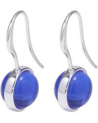 Pilgrim - Blue Silver Plated 'rumer' Drop Earrings - Lyst