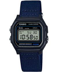 G-Shock - Unisex Navy Core Retro Alarm Chronograph Watch W-59b-2avef - Lyst