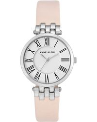 Anne Klein - Ladies Light Pink 'amber' Analogue Leather Strap Watch Ak/n2619svlp - Lyst