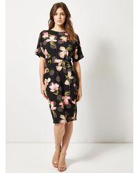 Dorothy Perkins - Lily & Franc Black Floral Print Batwing Dress - Lyst