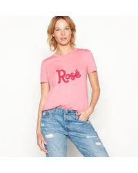 House of Holland - Pink 'rose' Slogan T-shirt - Lyst