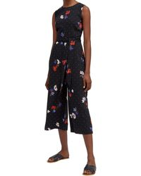 Warehouse - Multicoloured Scatter Floral Jumpsuit - Lyst