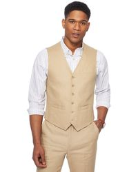 Racing Green - Natural Linen Waistcoat - Lyst