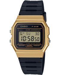 G-Shock - Unisex Black 'core' Retro Alarm Chronograph Watch - Lyst