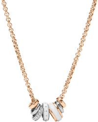 Fossil - Classic Rose Necklace - Lyst