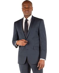Ben Sherman - Deep Blue Puppytooth 2 Button Front Slim Fit Kings Suit Jacket - Lyst