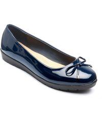 Freestep - Navy 'elizabeth' Ballerina Shoes - Lyst