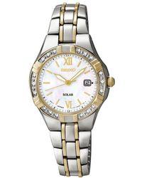 Seiko - Ladies Two-tone Stainless Steel Bracelet Watch Sut068p9 - Lyst