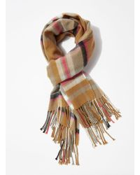 Miss Selfridge - Multicoloured Checked Scarf - Lyst