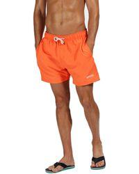 Regatta - Orange 'mawson' Swim Shorts - Lyst
