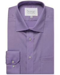 Double Two - Purple Single Cuff 100% Cotton Shirt - Lyst