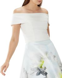 Coast - Ivory White 'verona' Bardot Top - Lyst