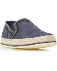 Bertie - Navy 'brie' Espadrille Slip On Shoe - Lyst
