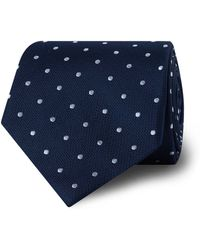 Tm Lewin - Navy Spotted Silk Tie - Lyst