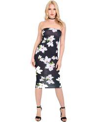 0057ca57ca TFNC London Sweetheart Boobtube Mini Dress in Black - Lyst