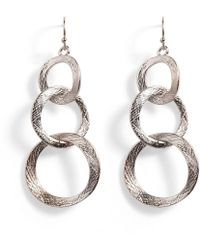 Phase Eight - Elodine Textured Link Drop Earrings - Lyst