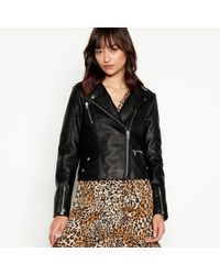 Vero Moda - Black Faux Leather 'april' Biker Jacket - Lyst