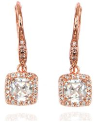 Anne Klein - Rose Gold Crystal Chandelier Drop Earrings - Lyst