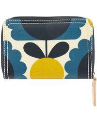 Orla Kiely - Blue Floral Spot Print Wallet - Lyst