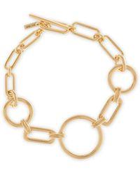 Pilgrim - Gold-plated 'trinity' Chain Bracelet - Lyst