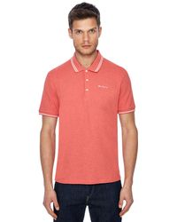 Ben Sherman - Big And Tall Pink Embroidered Logo Polo Shirt - Lyst