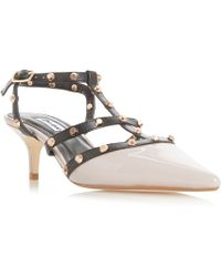 Dune - Multicoloured Leather 'castelo' Kitten Heel Court Shoes - Lyst