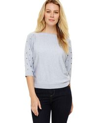 Phase Eight - Blue 'scattered' Eyelet Cristine Top - Lyst