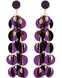 2a07dcc28c7 J.Crew · Red Herring - Purple Sequin Drop Statement Earrings - Lyst