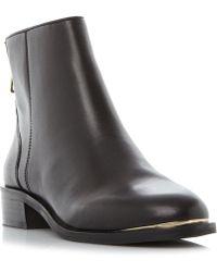 Steve Madden - Black Leather 'rileey' Block Heel Ankle Boots - Lyst