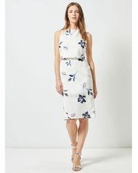 Dorothy Perkins - Lily & Franc Ivory Floral Print Scuba Dress - Lyst