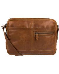 Cultured London - Chestnut 'trek' Buffalo Leather Messenger Bag - Lyst