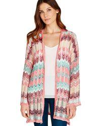 Apricot - Multicoloured Wavy Knit Kimono - Lyst