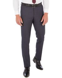 Red Herring - Grey Jaspe Check Slim Fit Trouser - Lyst