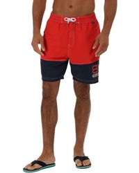 Regatta - Red 'brachtmar' Swim Shorts - Lyst