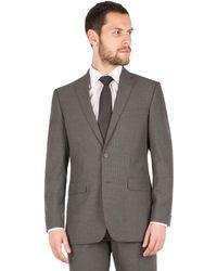 Scott & Taylor - Grey Narrow Stripe 2 Button Front Regular Fit Suit Jacket - Lyst