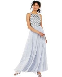 Monsoon - Blue 'tiffany' Embellished Maxi Dress - Lyst