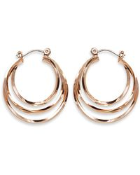 Phase Eight - Natural Ivanna Hoop Earrings - Lyst