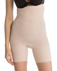 Spanx - Nude 'power Series' High-waisted Shorts - Lyst