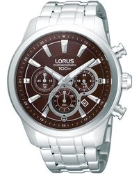 Lorus - Men's Stainless Steel Chronograph Watch Rt359ax9 - Lyst