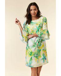 Wallis - Ivory Floral Print Dress - Lyst