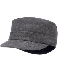 J By Jasper Conran - Grey Train Driver Hat With Wool - Lyst