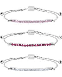 Lipsy - Pink Crystal Bar Toggle Bracelet Set - Lyst