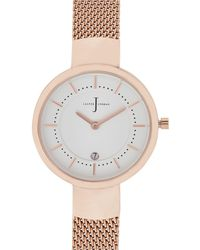 J By Jasper Conran - Womens' Rose Gold Plated Mesh Analogue Watch - Lyst
