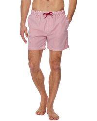 Red Herring - Red Stripe Print Swim Shorts - Lyst
