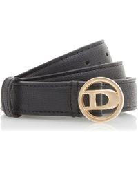 Dune - Black 'nanciee' Branded Buckle Belt - Lyst